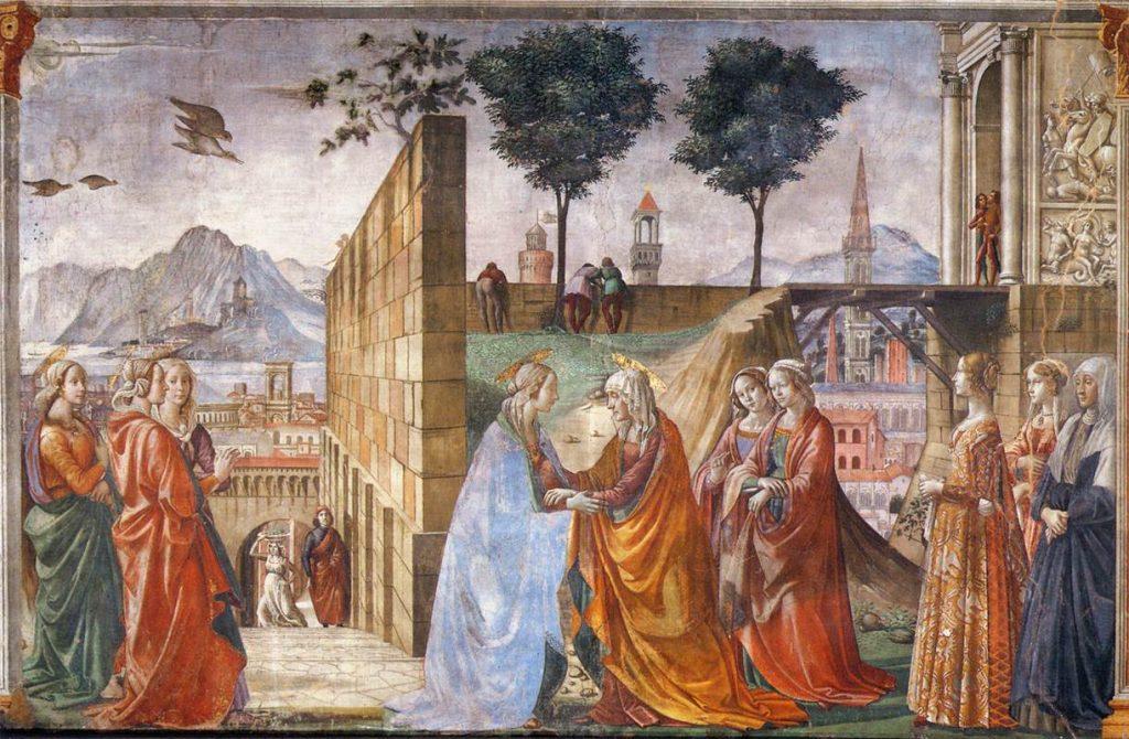 エリザベト訪問(トルナブオーニ礼拝堂)