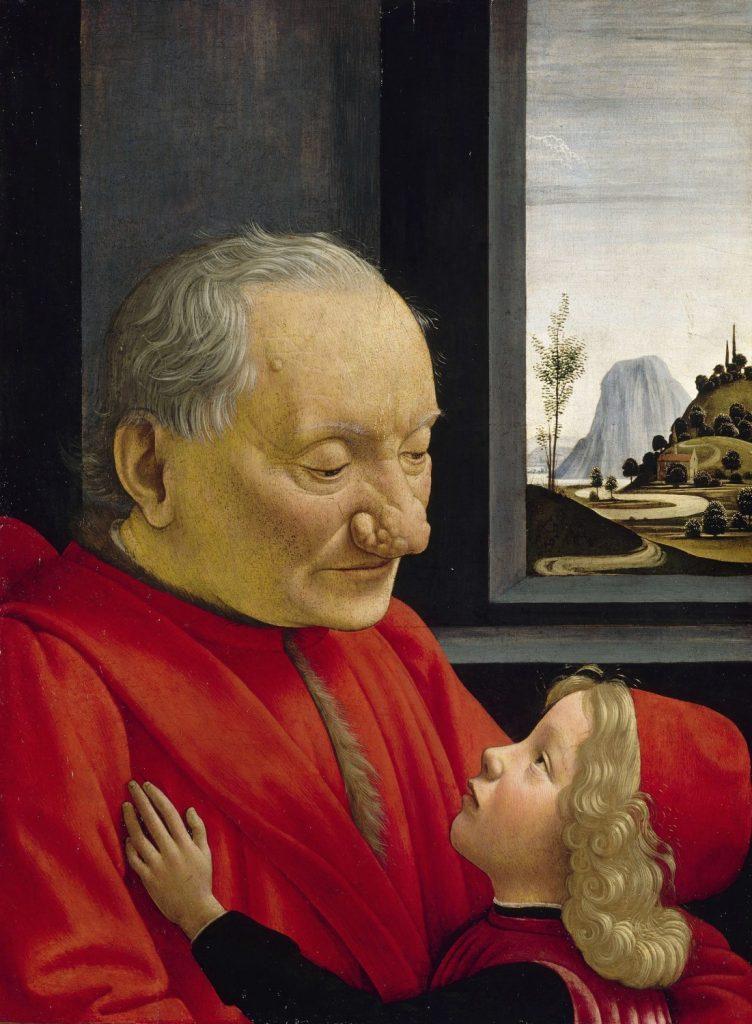 老人と少年の肖像