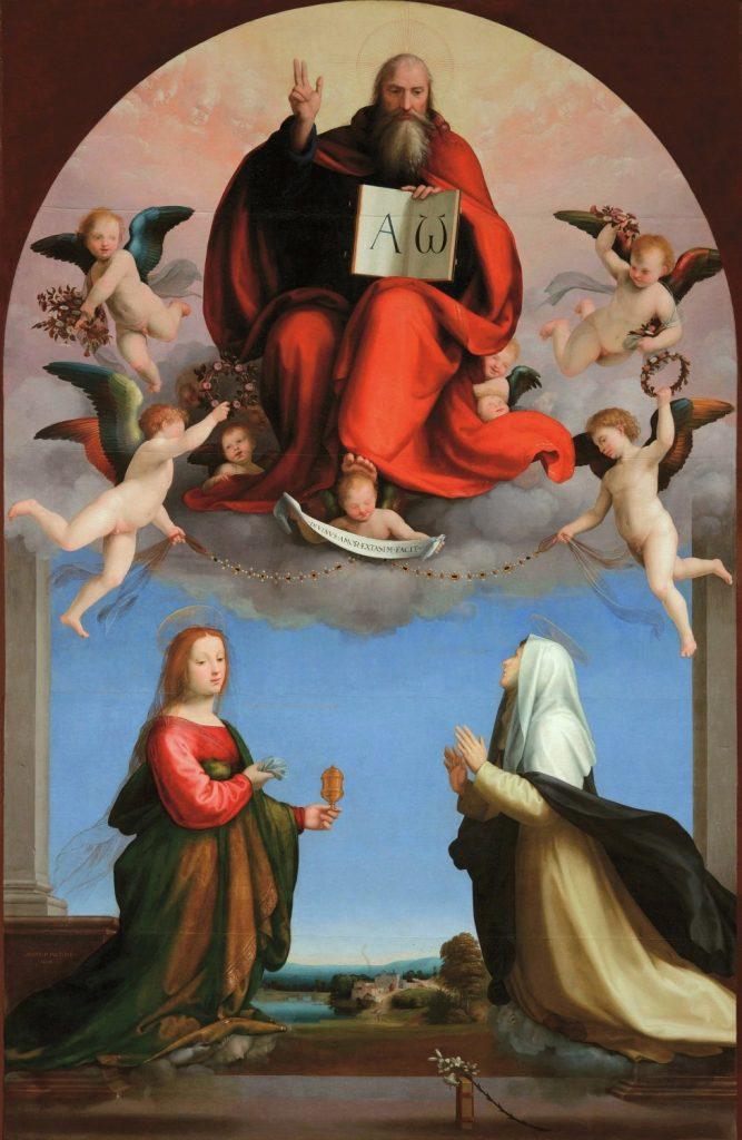 神の栄光を讃えるマグダラのマリアとシエナの聖カテリーナ