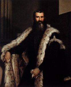 毛皮を着た男性の肖像