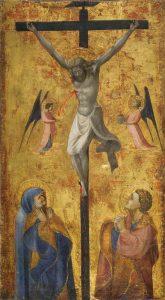十字架上のキリストと悲しむ人々