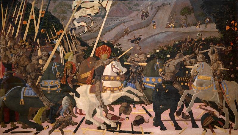 フィレンツェ軍の先頭に立つニッコロー・ダ・トレンティーノ