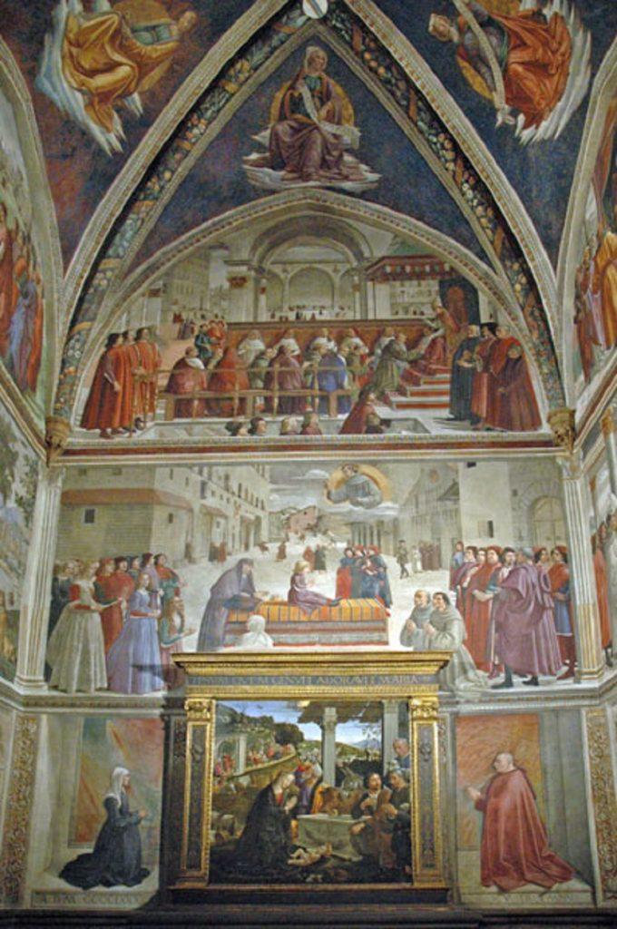 サンセッティ礼拝堂の祭壇壁画