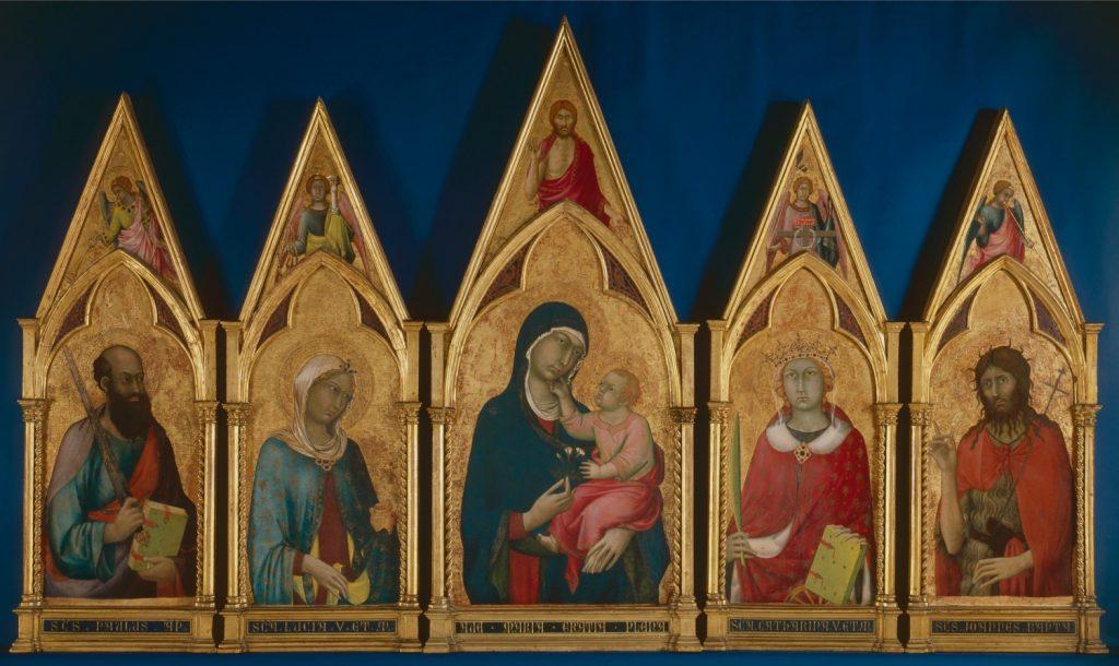 聖母子と聖人(ボストン多翼祭壇画)