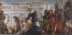 アレクサンダー大王とダレイオス三世の家族