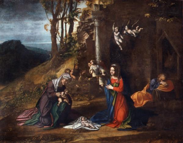 キリストの生誕に立ち会う聖エリザベスと幼き聖ヨハネ