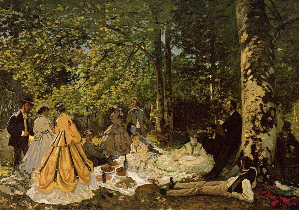 草上の昼食(習作)