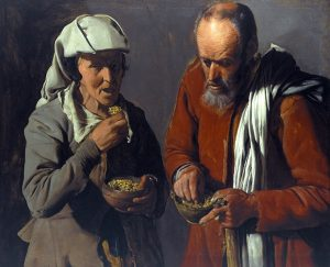 Peasant Couple Eating Peas. Ca. 1622-1623. Oil on canvas, 76.2 x 90.8 cm. Inv. 76.1. Photo: Joerg P. Anders.  Image licenced to Timothy Don Lapham's Quarterly by Timothy Don Usage :  - 3000 X 3000 pixels (Letter Size, A4)  © bpk, Berlin / (name of museum) /(name of photographer) / Art Resource
