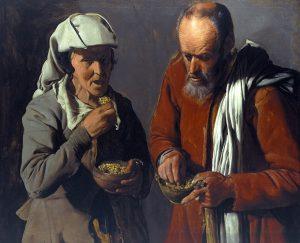 豆を食べる人々