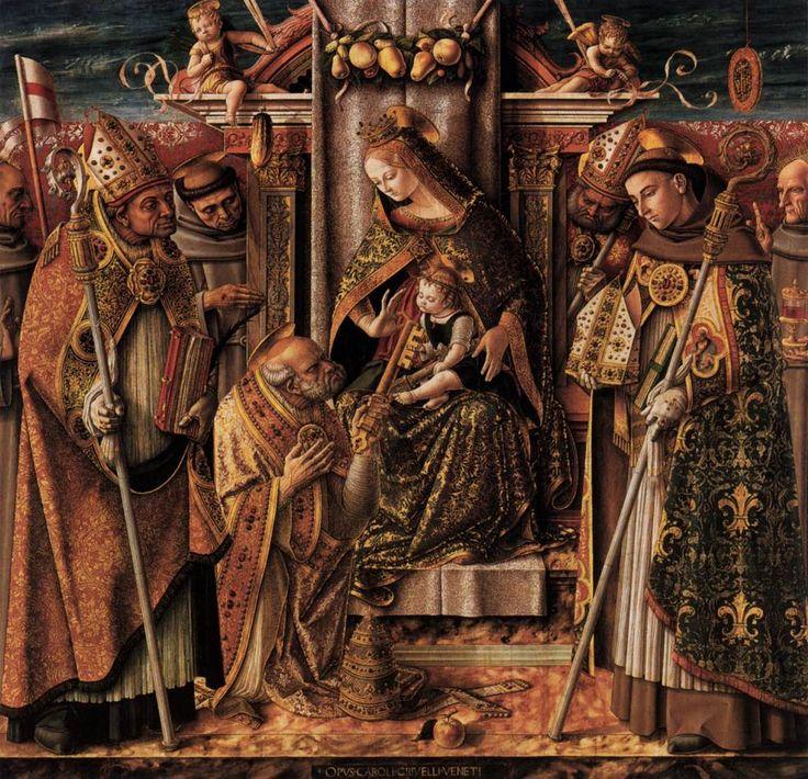 聖母マリアと聖人達(王座に就く聖母子と聖人達)