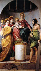 聖カタリナの神秘の結婚と洗礼者聖ヨハネと福音書記者聖ヨハネ、聖エヴァンジェリスタ