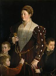 カミラ・ゴンザガと3人の息子の肖像
