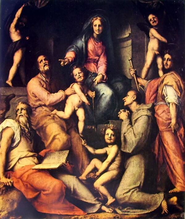 マドンナと子どもと聖人
