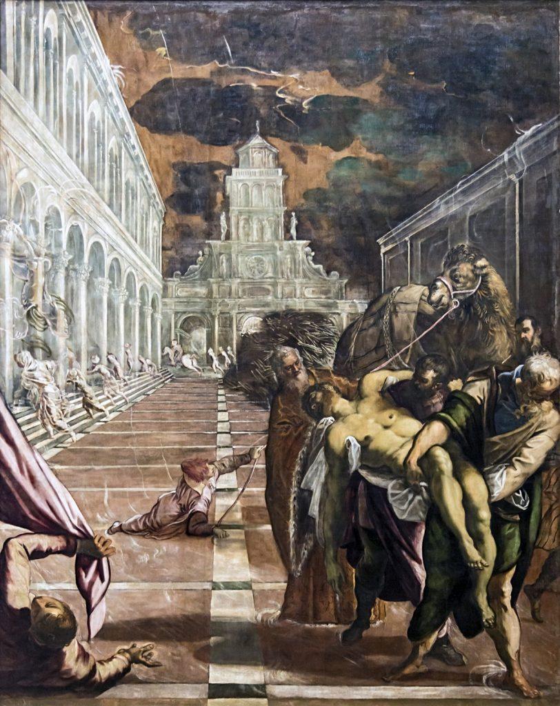 聖マルコの遺骸を焼却から救うアレクサンドリアの信者