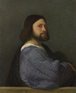 キルトの袖の男