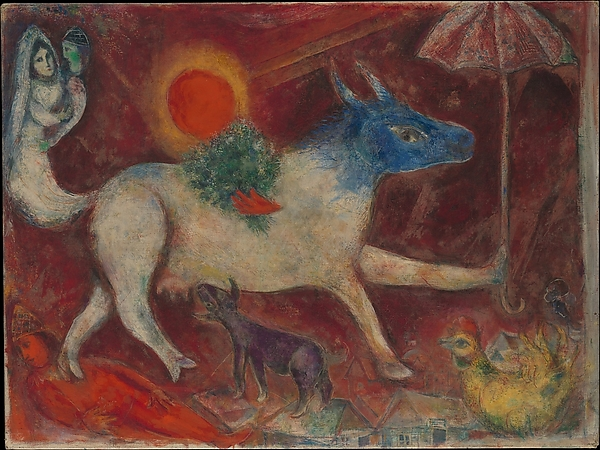 パラソルと牛