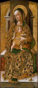 王座に就く聖母子