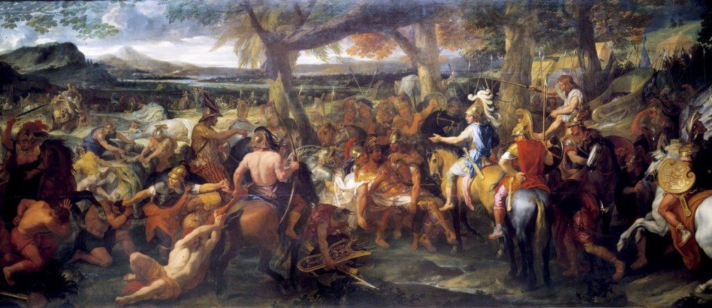 アレクサンドロス大王とポロス王