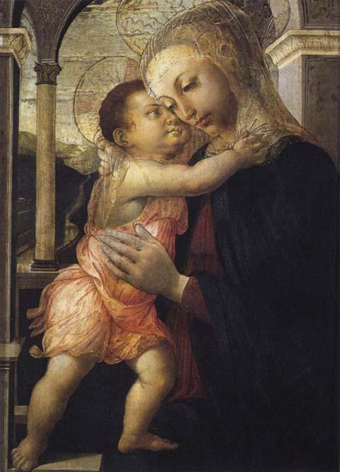 柱廊の聖母子
