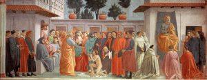 テオフィルスの息子の蘇生と教座のペテロ
