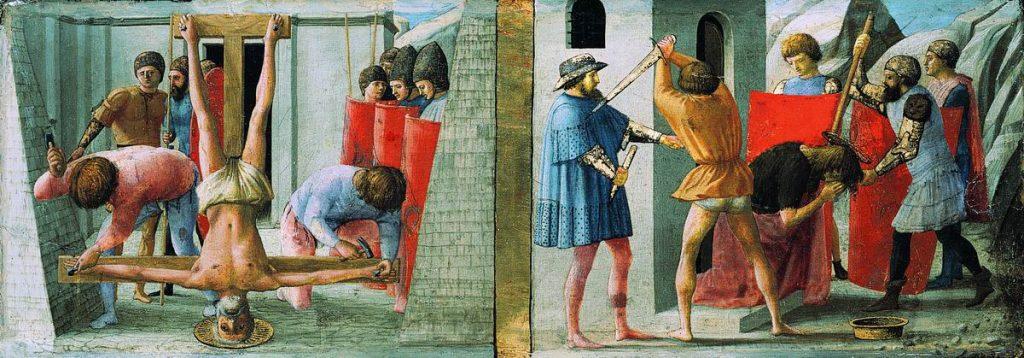 聖ペテロの磔刑と聖ヨハネの殉教