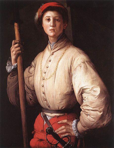 赤い帽子の若い男の肖像画