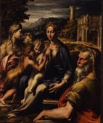 聖母子と聖ザガリヤ、マグダラのマリア、幼児聖ヨハネ
