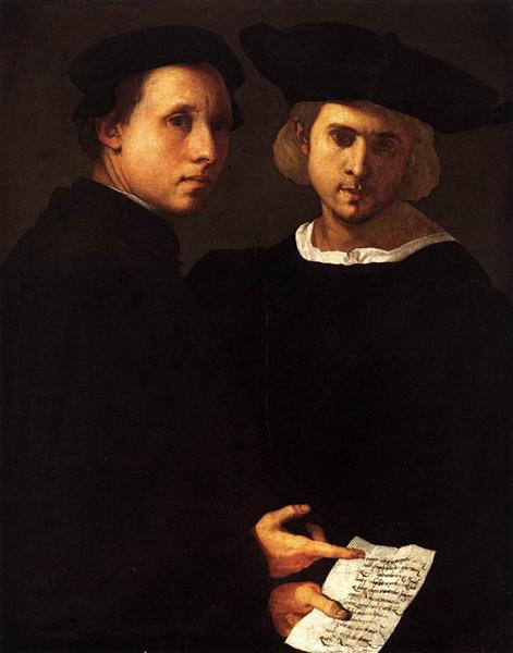 友人2人の肖像