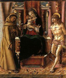 聖母子、聖フランチェスコと聖セバスティアヌス