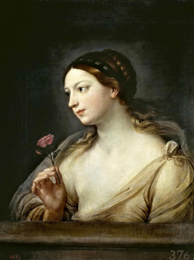 薔薇を持つ少女