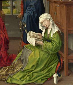 読書するマリア