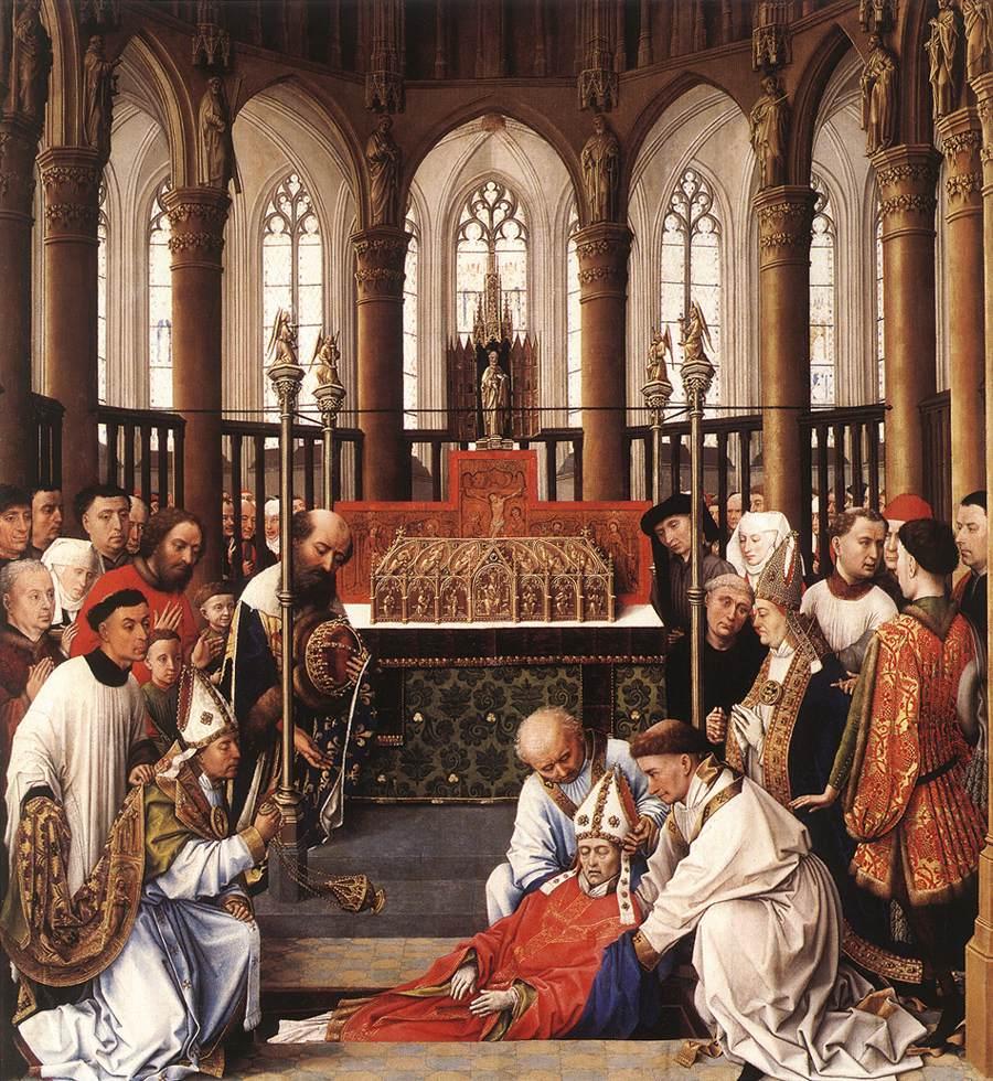 聖フベルトゥスの遺体の発掘