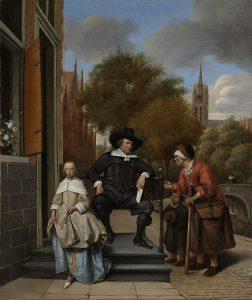 デルフトの市長とその娘
