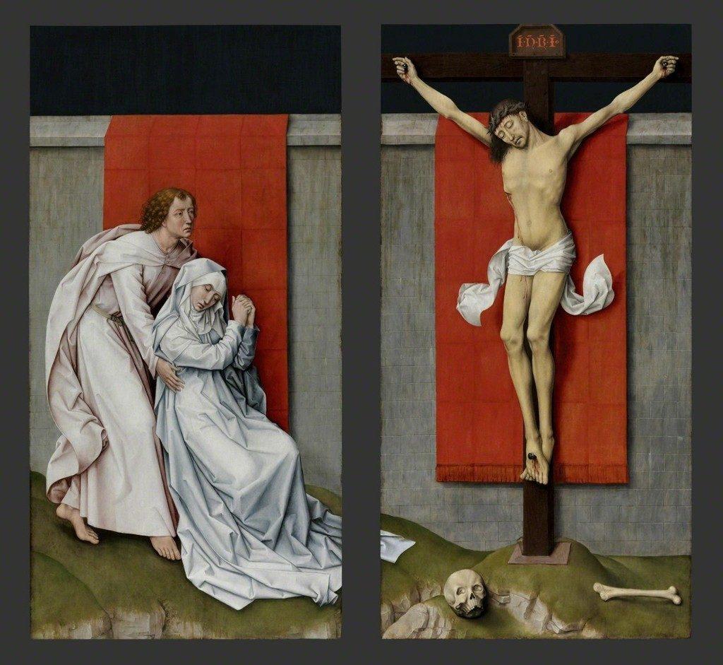 キリスト磔刑の二連画