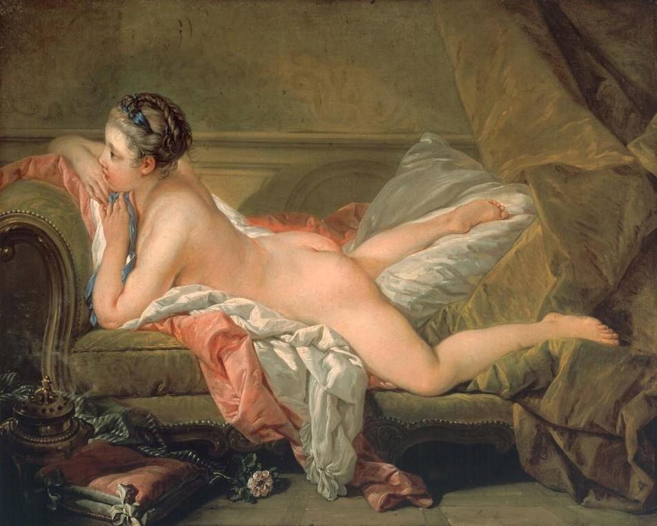 ソファーに横たわる裸婦(黄金のオダリスク)