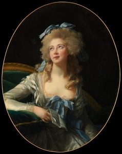Élisabeth Louise Vigée Le Brun (French, Paris 1755–1842 Paris) Madame Grand (Noël Catherine Verlée, 1762–1835), Later Madame de Talleyrand Périgord, Princesse de Bénévent, 1783 Oil on canvas; Oval, 36 1/4 x 28 1/2 in. (92.1 x 72.4 cm) The Metropolitan Museum of Art, New York, Bequest of Edward S. Harkness, 1940 (50.135.2) http://www.metmuseum.org/Collections/search-the-collections/437898