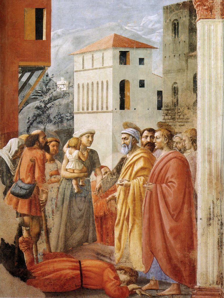 布施とアナニアスの死