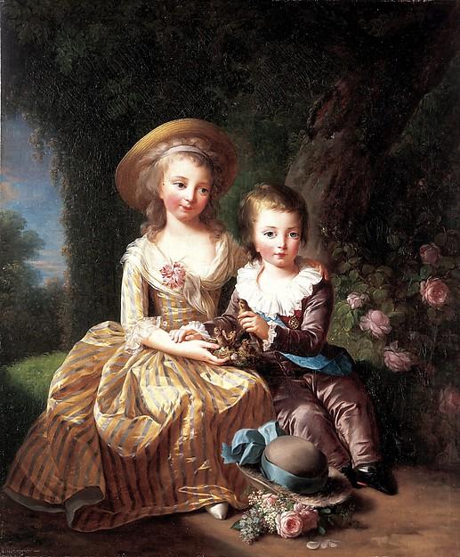 王女マリー=テレーズと王太子ルイ=ジョゼフ