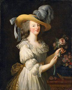 モスリンのシュミーズドレスを着た王妃マリー・アントワネット