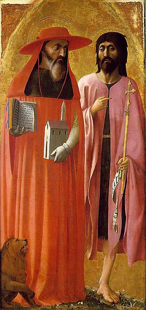ヒエロニムスと洗礼者ヨハネ