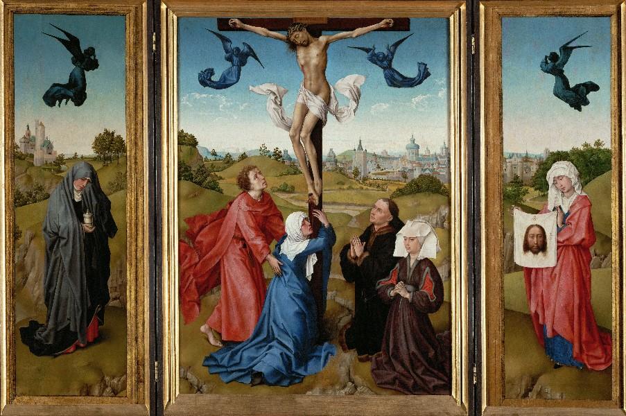 キリスト磔刑の三連画