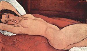 横たわる裸婦