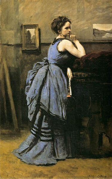 青い服の婦人