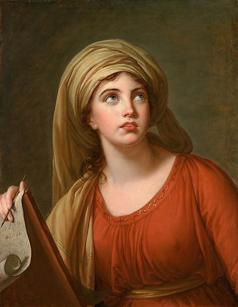 クマエのシビュラに扮するハミルトン嬢の習作