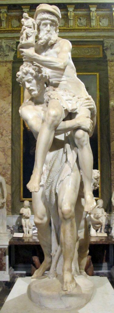 トロイアを脱出するアエネアスとアンキセスとアスカニウス