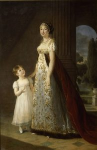 カロリーヌ・ボナパルトと娘レティツィア