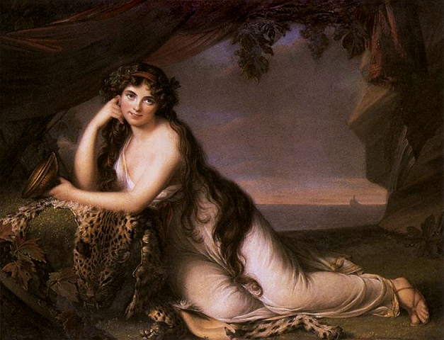 アリアドネーに扮したハミルトン嬢