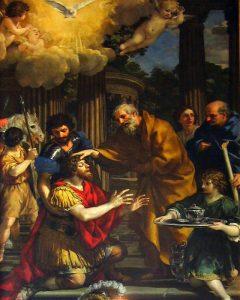 聖パウロに視力と取り戻すアナニヤ