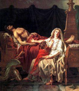 ヘクトールの死を嘆くアンドロマケ