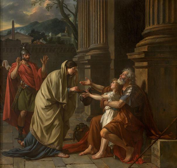 施しを受けるベリサリウス